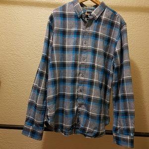 Denim & flower XL Flannel